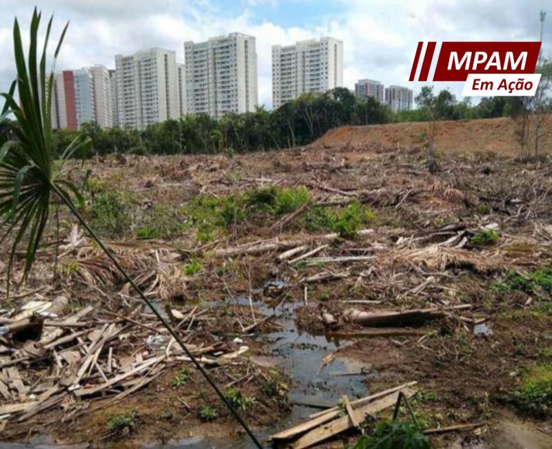 MPAM investiga desmatamento de Área de Preservação Permanente na Ponta Negra